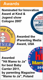 Awards, Innovation award at Kind & Jugend show 2007 and Iparenting media award in USA