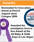 Awards, Innovation award at Kind & Jugend and ABC Expo in Las Vegas, 2009